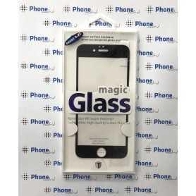 Protector Cristal Templado Negro para iPhone 6/6S