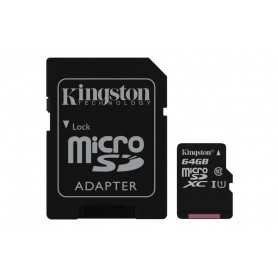 MICRO SD KINGSTON 256GB CANVAS SELECT UHS-I C10 R80 CON ADAPTADOR